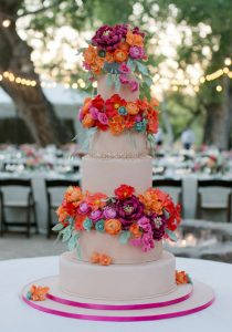 colorful sugar flowers
