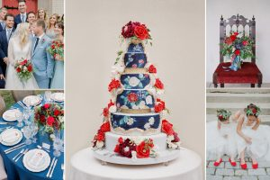 celebrity wedding cake-painted wedding cake