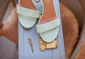 Turquoise Suede Bridal Shoes