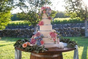 vineyard wedding-cake Jonathan Edwards Winery-True Event-tall wedding cake