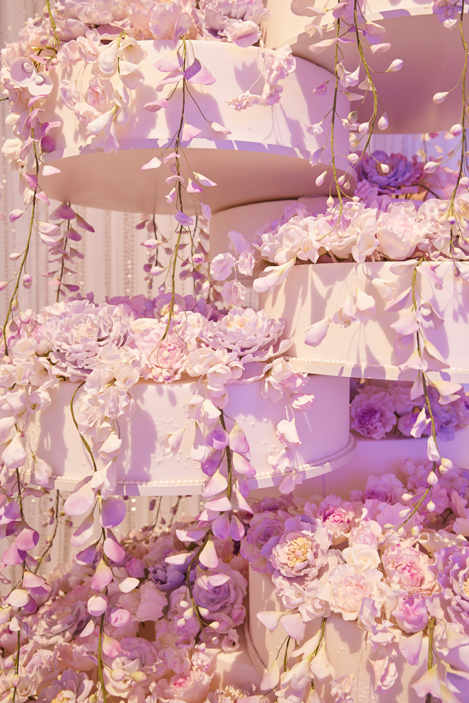 Las Vegas opulent wedding cake