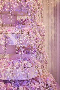 wisteria and peony sugar flowers luxury cake