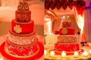 Indian wedding cake-red colorful wedding cake-Ana Parzych-hyatt regency greenwich-ct