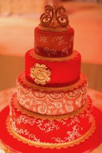 Indian wedding-cake Ana Parzych-custom-wedding cake