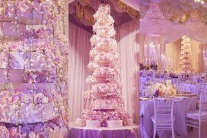 royal wedding cake-world's tallest wedding cake-sugar flower cascade