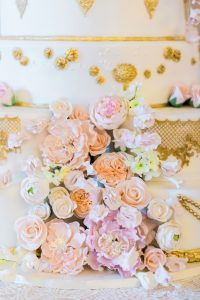Handcrafted wedding cake flowers
