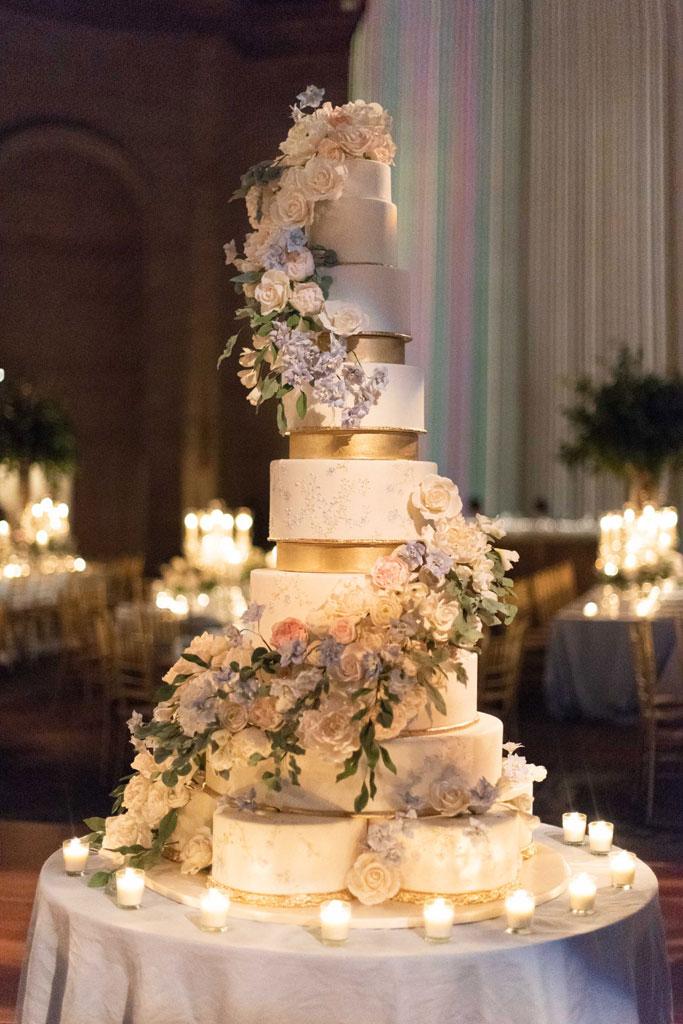 Cipriani NYC custom wedding cake by Ana Parzych