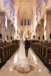 New York city Saint Patricks Cathedral wedding