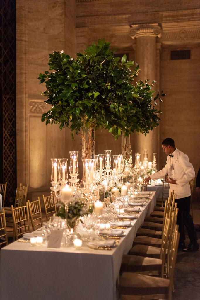 New York styled wedding reception