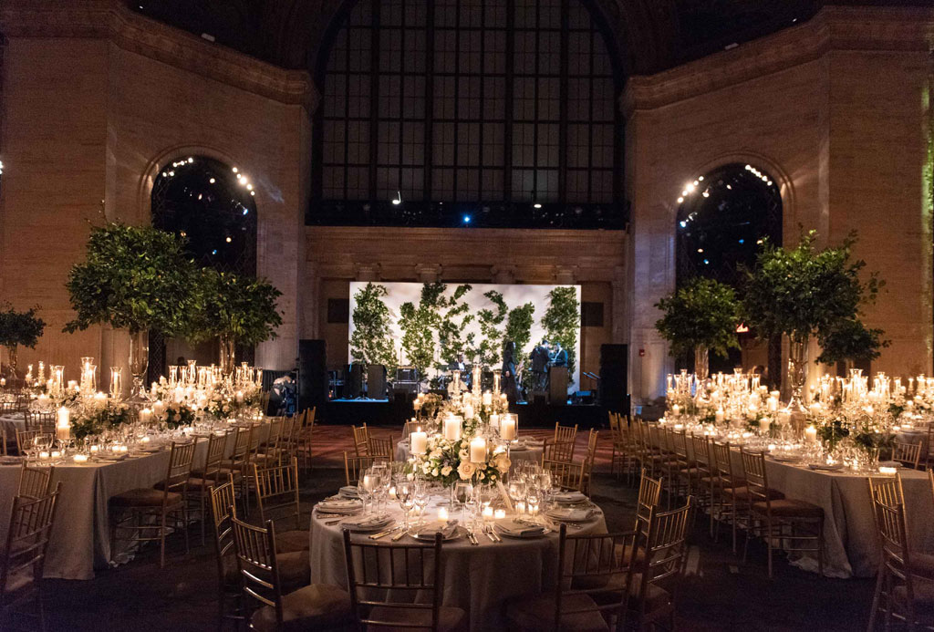 Cipriani New York wedding reception