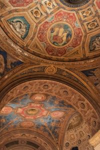 The ceiling of Cipriani in NYC