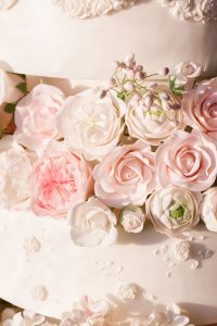Sylvia Weinstock style wedding cake