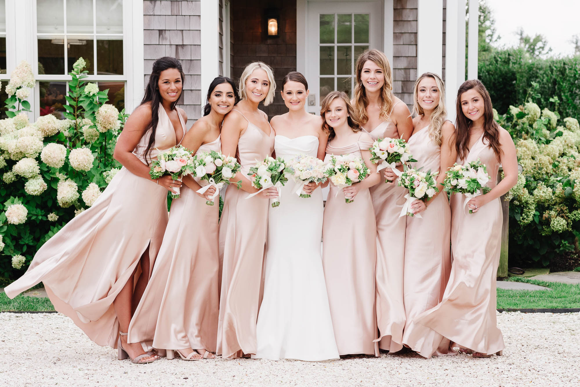 Nantucket wedding bridesmaids dresses