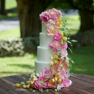 Winvian farm wedding cake