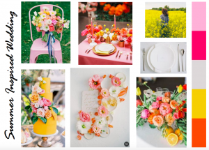 Summer inspired wedding mood board