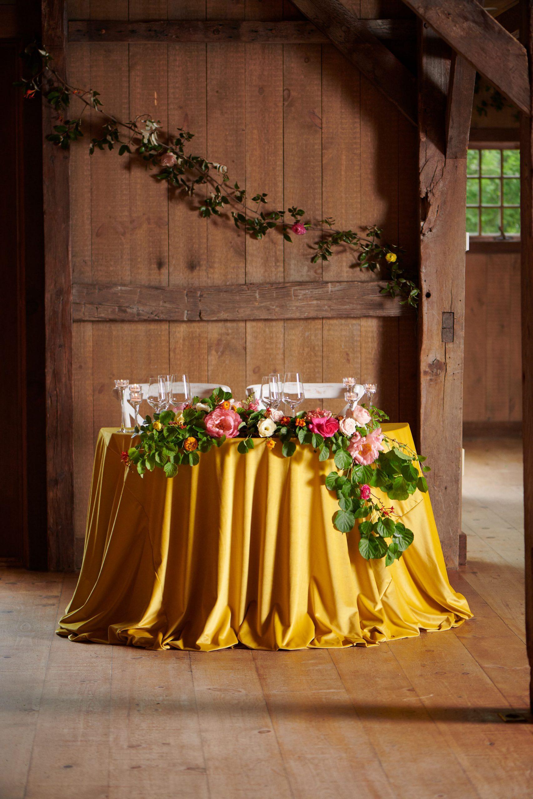 Winvian farm wedding reception