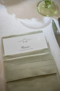 Wedding menu decor