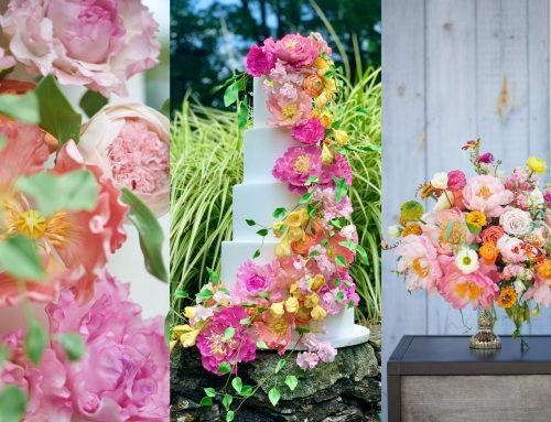 Winvian Farm Outdoor Wedding | Pink & Yellow Summer Wedding Styled Photoshoot